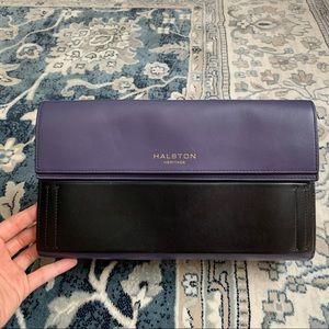 HALSTON HERITAGE  Foldover Clutch Bag